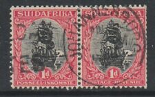 South Africa - 1927, 1d - Perf 13 1/2 x 14 - Horizontal Pair - G/U - SG 31d