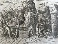 Entombment (horizontal) Print by Andrea Mantegna Renaissance Engraving