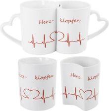 Doppeltasse Partnertasse Herzklopfen love Liebe Valentinstag Tasse Herzen Herz