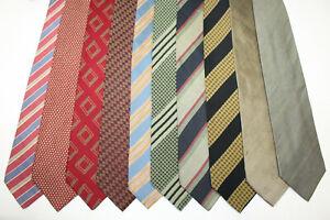 LOT OF 10 GIORGIO ARMANI  silk ties MADE IN ITALY. F18036