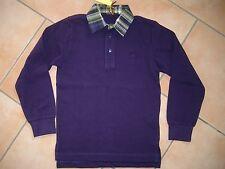 (H722) Etro Milano Boys Langarm Polo Shirt + Hemdkragen & Logo Stickerei gr.140