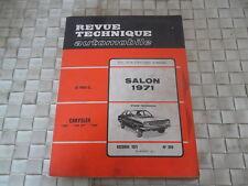 REVUE TECHNIQUE CHRYSLER 160 - 160 GT - 180