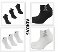 3 Pack Mens Genuine Adidas Sports Low Cut Trainer Socks Accessories Size 6-14