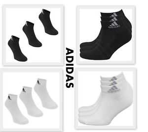 3 Pack Mens Genuine Adidas Sports Low Cut Trainer Socks Accessories Size 5-14