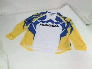 Icon Mens Yellow Raiden Arakis Base Layer Motorycle Moto MX Adventure Jersey SM