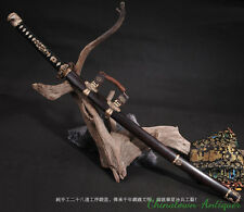 Ronin Samurai Sword Katana Hand Forged pattern steel with clay tempered #3118