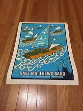 DAVE MATTHEWS BAND POSTER 9/8/13 MOUNTAIN VIEW CA RARE