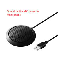 Omni-Directional Stereo Conference Microphone USB for Desktop Computer Amplifier