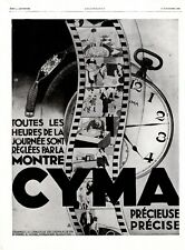Original French Vintage Ad - CYMA Watch Horology Watchmaking Jewerly - 1928