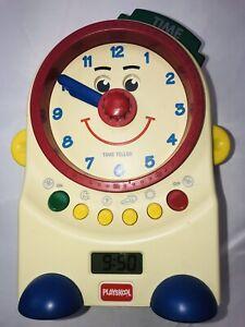 Playskool Teachin' Time Talking Clock Toy Digital & Dial 1995 PS-725 Works Great