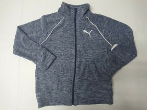 New Puma Girls Multi Size Fleece Full Zip Jacket Heater Multi Color Pink Navy