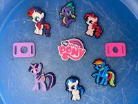 My Little Pony Lot Of 7 Shoe & Bracelet Charms + 2 Lace Adapters