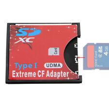 SD SDHC SDXC zu Compact Flash CF Speicherkarte Adapter Kartenleser Reader