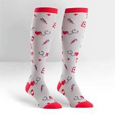 Sock It To Me Women's Funky Knee High Socks - Nurse