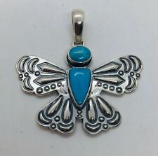 Cody Sanderson Relios Sterling Silver Blue Turquoise Butterfly Pendant