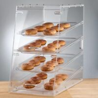 4 Tray Bakery Display Case Front Rear Door Donut Pastry Hotel Store Coffee Shop