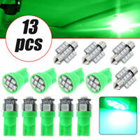 Green Car LED Lights Interior Package Kit for Dome License Plate Lamp Bulbs 13*