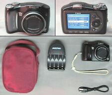 CANON POWERSHOT SX100 IS 8.0 MP DIGITAL CAMERA + ACCESSORIES