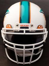 MIAMI DOLPHINS Schutt ROPO-DW Football Helmet Facemask/Faceguard (WHITE)