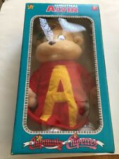 1990 Vintage Chipmunks & Chipettes Holiday Christmas ALVIN Stuffed Toy Doll