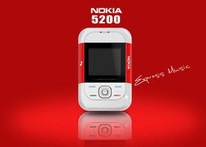 Original Nokia 5200 Music 2G GSM Slide Phone Infrared port Bluetooth Cellphone