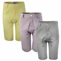 Mens Designer Bellfield Dropcrotch 100% Cotton Chino Shorts