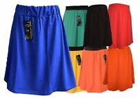 GIRLS KIDS PLAIN SKATER*SKIRTS* SUMMER SCHOOL FASHION PARTY FASHION AGE 5 -13