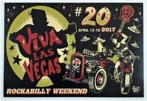 VLV20 STICKER Decal Viva Las Vegas 20 Rockabilly Weekend Artist Vince Ray