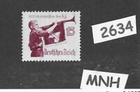#2634    MNH postage stamp PF15 / 1935 Hitler Youth / Third Reich Germany WWII