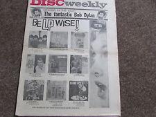DISC Weekly Music Magazine 10/04/65  BEATLES  Bob DYLAN  Cliff RICHARD etc