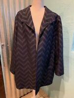 NWOT Chicos Navy Blue Topper/Jacket, Size 3