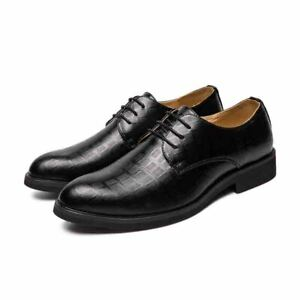 Mens Pointed Toe Faux Leather Official Business Formal Dress Shoes Wedding Party