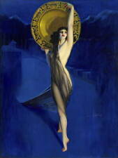 Rolf Armstrong Pin Up Girls The Enchantress Poster Giclee Canvas Print