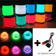 20M LED Flexible Neon Light Glow EL Strip Wire Rope Home Car Decor+12V Controlle