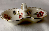 Zsolnay Hungary Hand Painted w Handle Floral Trinket Dish 1853 PECS 5 In Long
