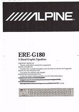 Alpine  Bedienungsanleitung user manual owners manual  für ERE-G 180