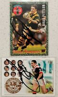 ✺Signed✺ 2 x Brad Fittler (Roosters) Lot of NRL Rugby League cards