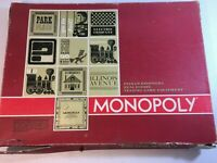 Vintage 1964 Monopoly Board Game Red Box Complete Parker Brothers