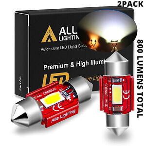 Alla Lighting LED Dome Map Interior Light Bulbs/ Trunk Cargo Lamps White DE3175