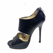 JIMMY CHOO Patent Leather Open Toe Heel Size 39