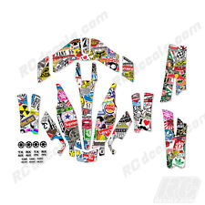 Traxxas Aton Plus Body Wrap Decal Skin Sticker Canopy Sticker Bomb
