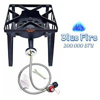 200,000 BTU Outdoor Propane Gas Burner Stove High Pressure Cast Iron Stove