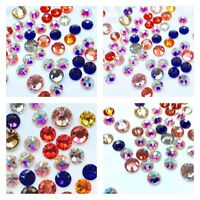 30x Swarovski Elements Crystal Rhinestones Foiled Mixed Colors SS30 SS40 Bling