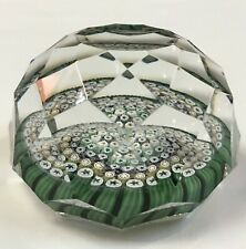 Whitefriars 1972 Close Concentric Millefiori Geometric Faceting PAPERWEIGHT