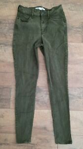 Old Navy Women's Size 2 Rockstar Super Skinny Pants High Waist Green Dark