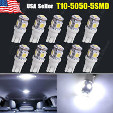 10 PCS Cool White T10 Wedge 5-SMD 5050 W5W 2825 158 192 168 194 LED Light bulbs