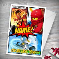 NINJAGO LEGO - Personalised Birthday Card - Son, Boys, Nephew, Bro, Friend
