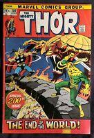 1972 The Mighty THOR #200 vtg Marvel Key LOKI Issue Comic 1970s avengers