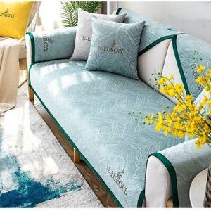 Sofa Cover Plush Couch Cover Seat Cushion Europe Sofa L Corner Non-Slip Towel