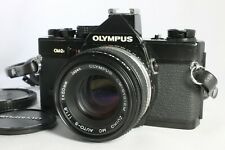Very Good OLYMPUS OM-2N 35mm SLR Film Camera Black with Zuiko 50mm f1.8 Lens